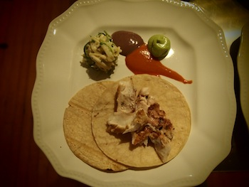 Grilled fish tacos by Chef Lucio