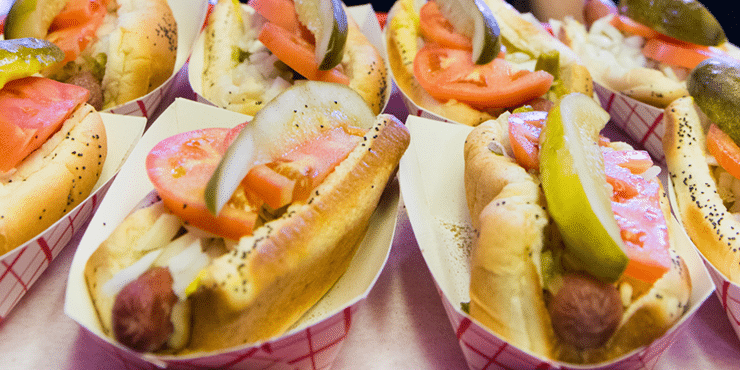 Chicago Style Hot Dogs at Georges