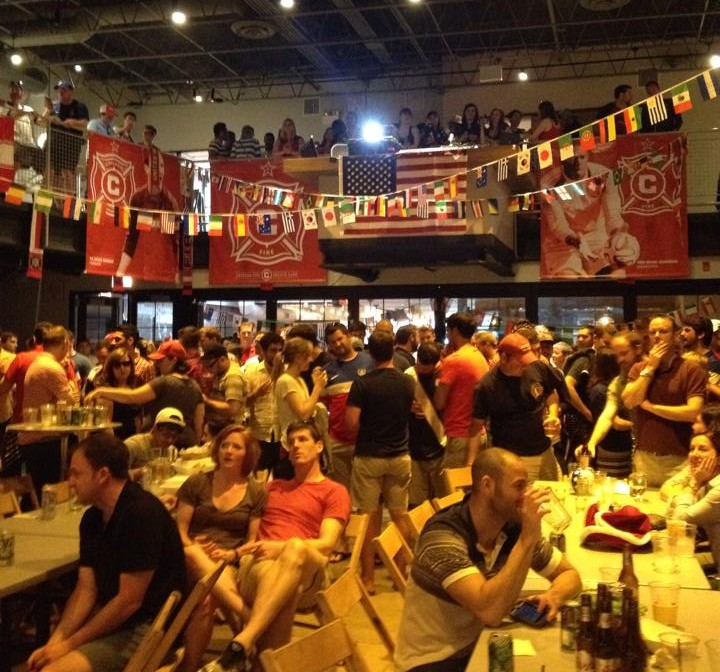 World Cup viewing party at Chop Shop
