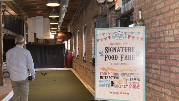 Indoor Bocce at Signature Food Fare