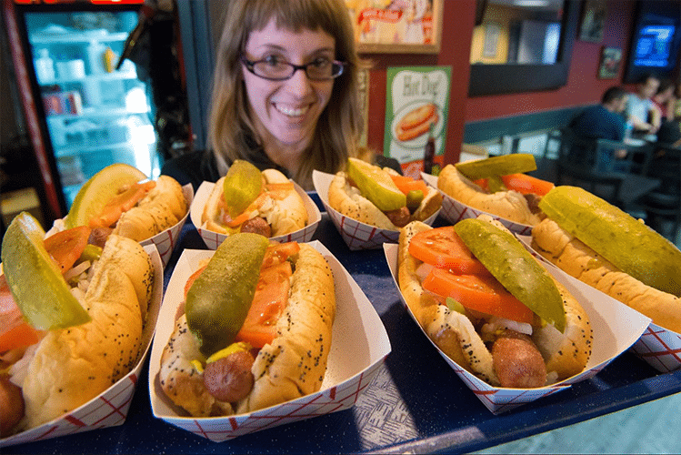 navy pier hot dogs
