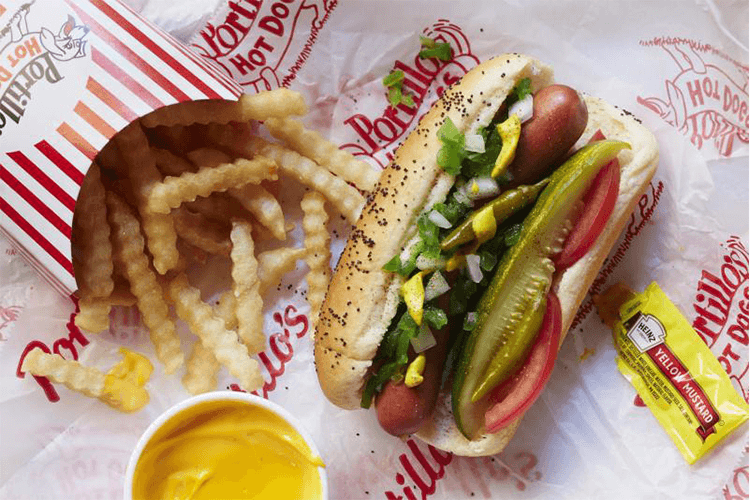 Portillo's #1 Chicago style hot dog