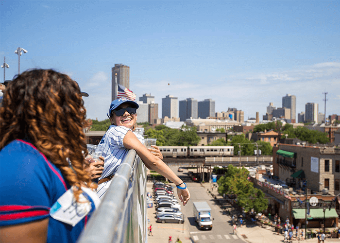 chicago wrigleyville rooftop corporate party