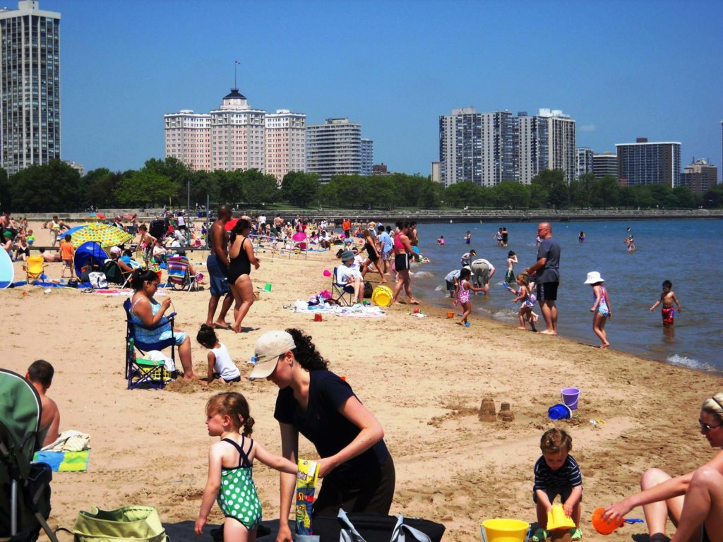Chicago beaches with kids